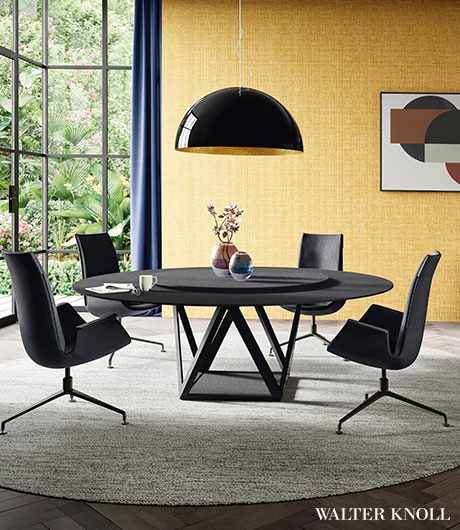 With its familiar tulip shape, the FK bucket chair by Walter Knoll has been a furniture original for decades.