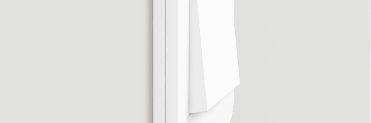 Gira E3 light switch in white