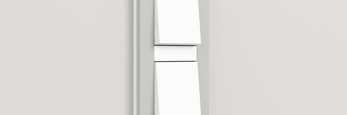 Gira E3 light switch in grey and white