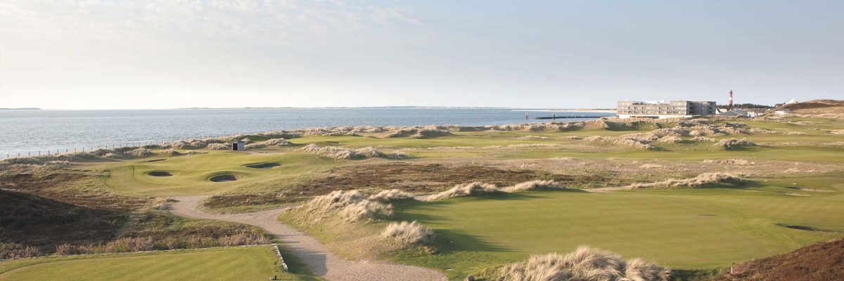 Golf course of the Budersand Hotel in Sylt