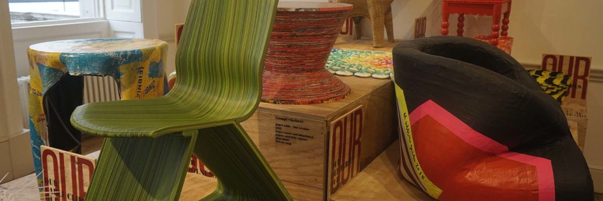 Colorful chairs with different designs