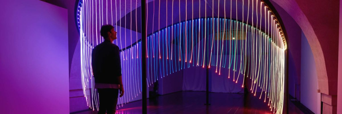 "The light installation ""Full Spectrum"" designed by the Australian artist Flynn Talbot"