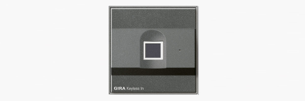 Gira Smart Home Security: keyless door with fingerprint technology