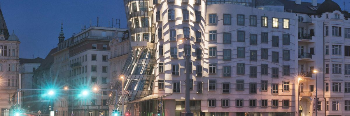 The dancing house designed by Frank Gehry