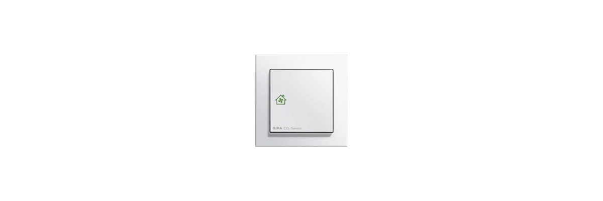 Heating in Winter: The Gira KNX CO2 sensor