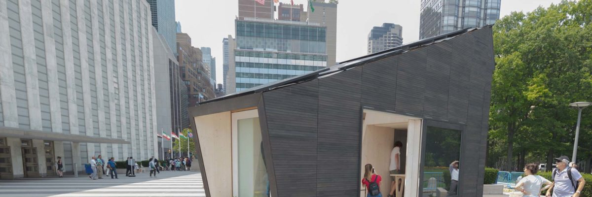 Self sufficient home: The Ecological living Module can be seen in New York
