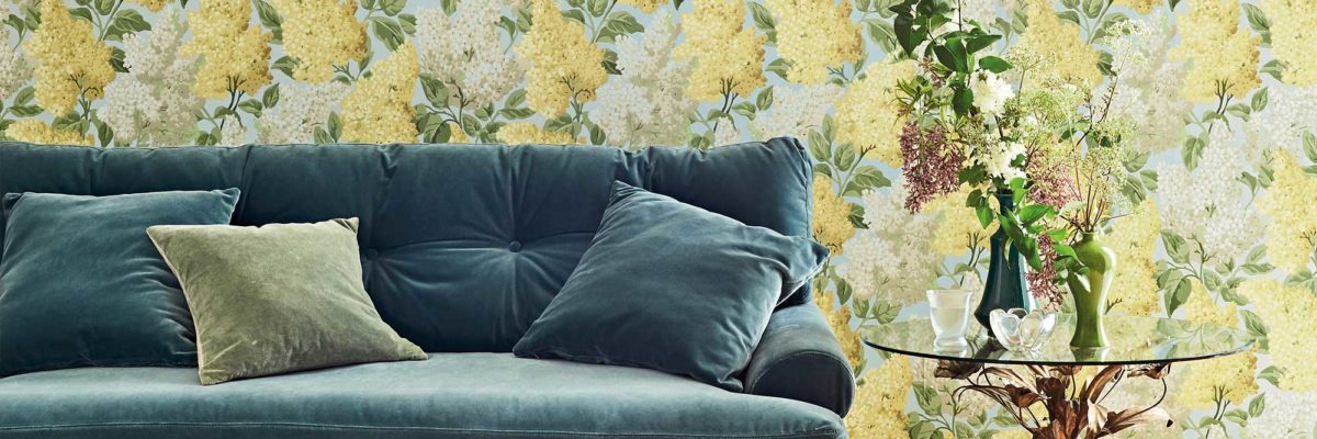 interior design trends 2019: botanical wallpapers, you can bring a rural idyll into your own home