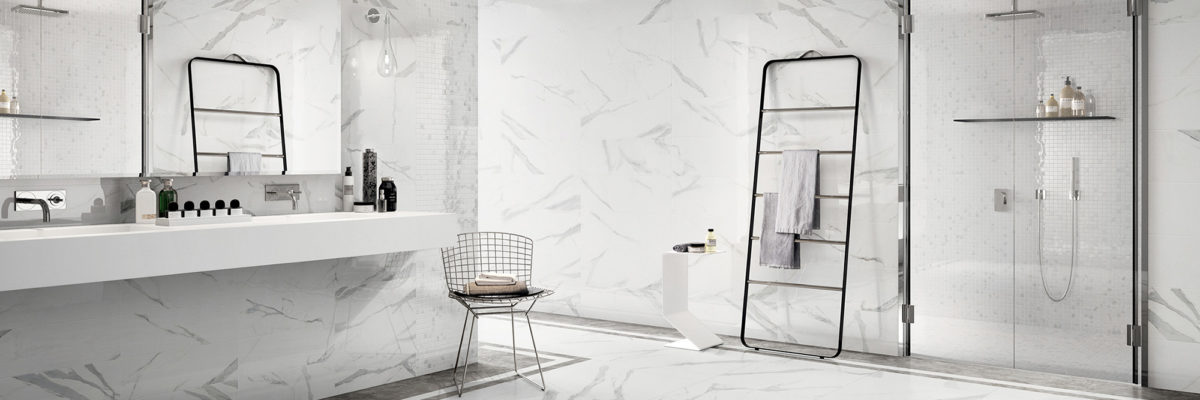 Interior design trends 2019: Enrich your bathroom with white marble Walls
