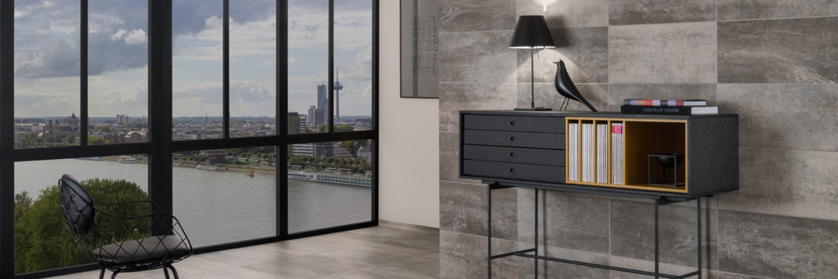 Interior design trends 2019: The combination of natural stone walls and flooring is the perfect way to highlight modern interior styling
