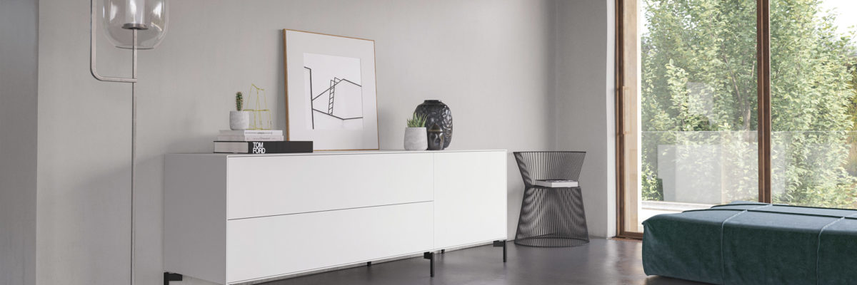 Imm cologne: White Sideboards, IMM 2019