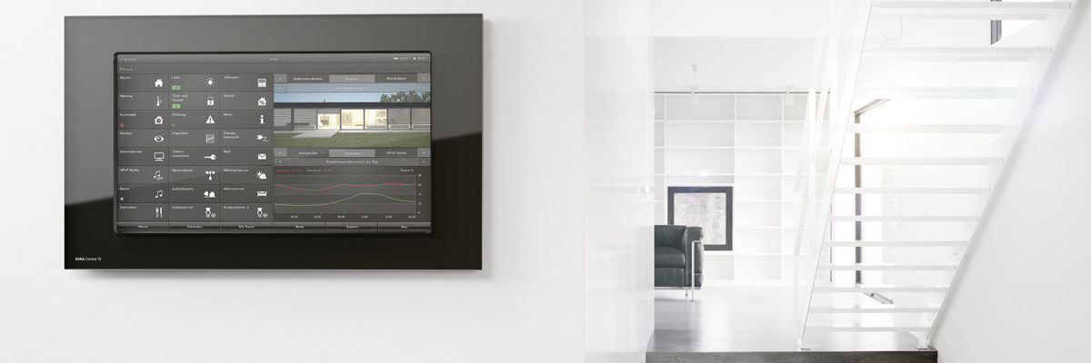 Smart Home control via touch-display.