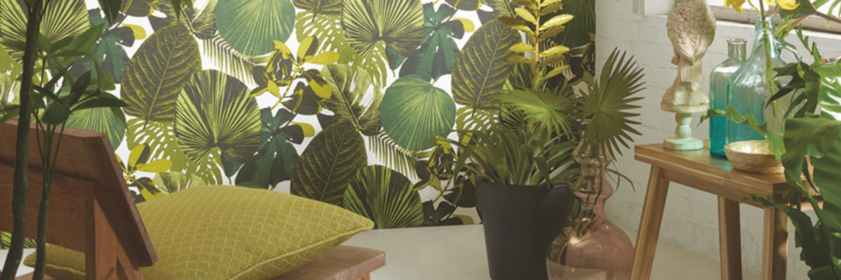Tropical Feeling: That´s one of the wallpaper trends of 2019.