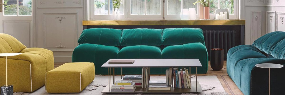 Classic design revival with plumppy sofas and seats.