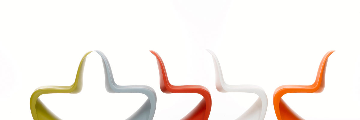 A Classic design revival with colourful chairs.