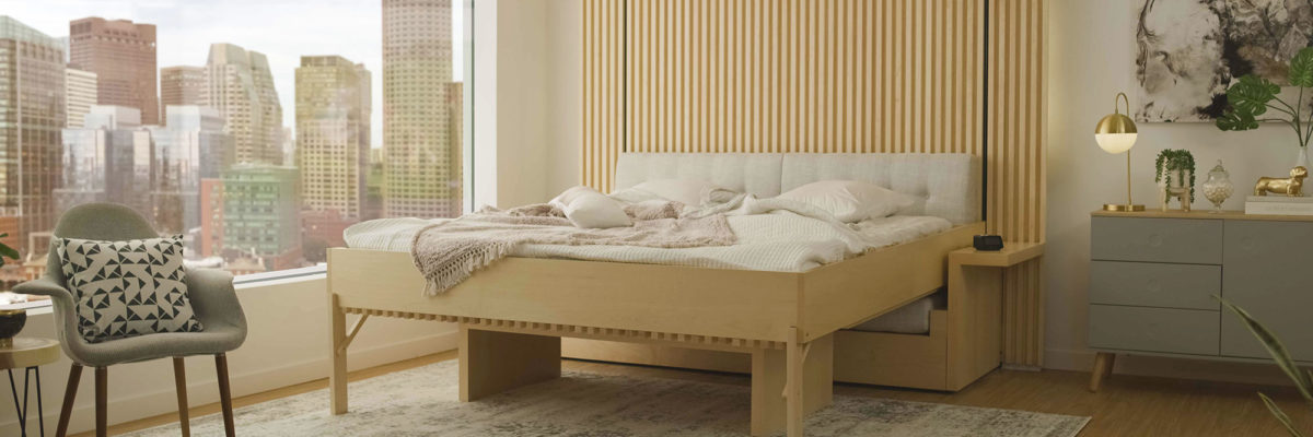 A confortable robotic furniture - the bed from Ori.