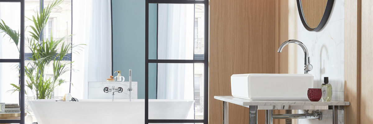 White and blue are a good example for bathroom colours.