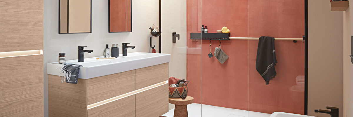 Bathroom colours are close to trend colours of the year.