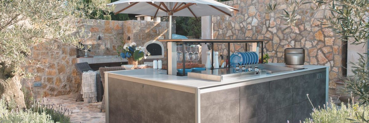 Garden kitchen are very flexible.