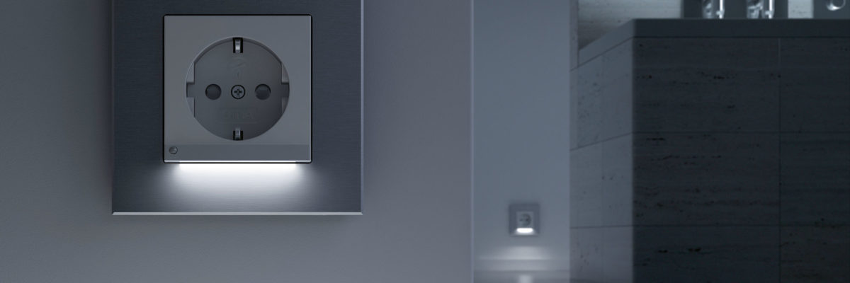 Gira LED sockets are examples for smart living products.