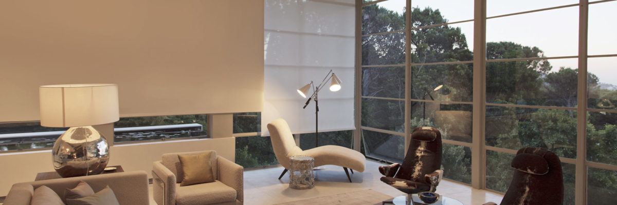 Modern interior with dimmed lights