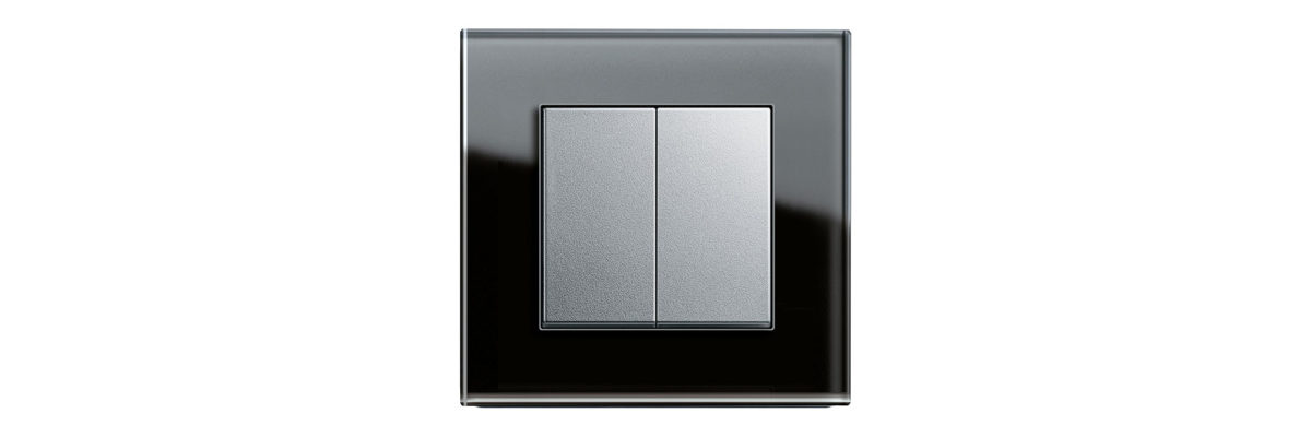 Black and white Gira rocker switch