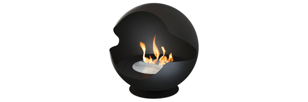 fireplace in spherical shape