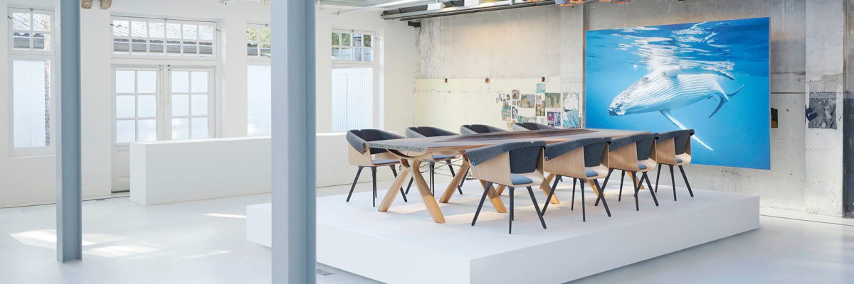 Recycled plastic furniture is a new trend for designers.