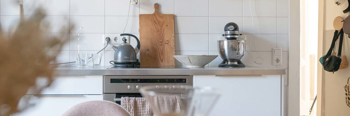 view in kitchen with focus on gira standard 55