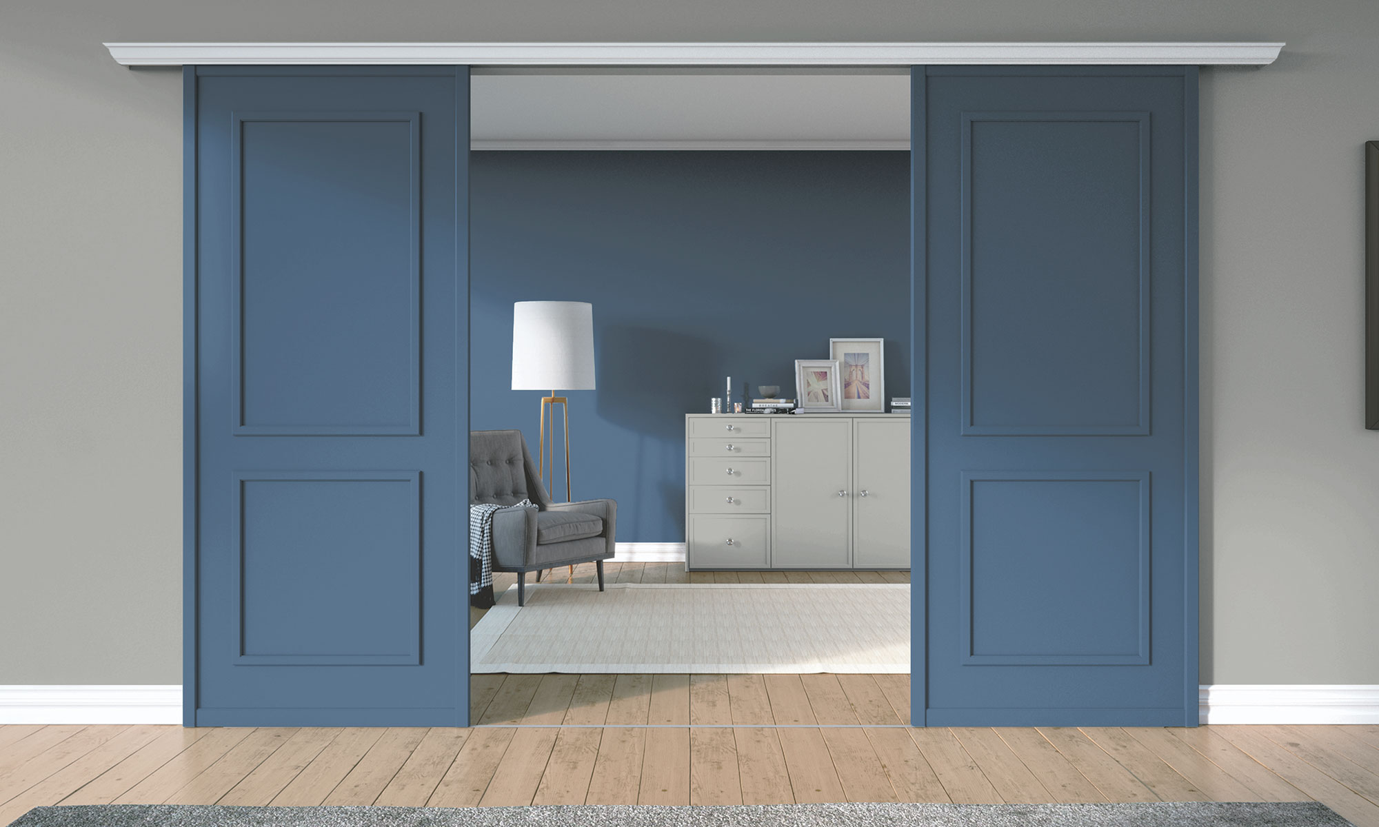 Classic Blue doors Colour of the Year 2020