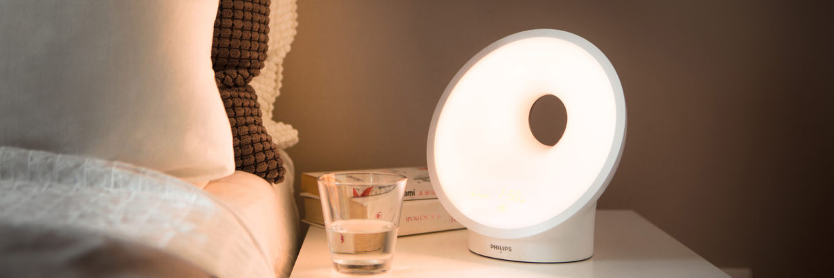 Bright Philips Wake Up light for the smart bedroom