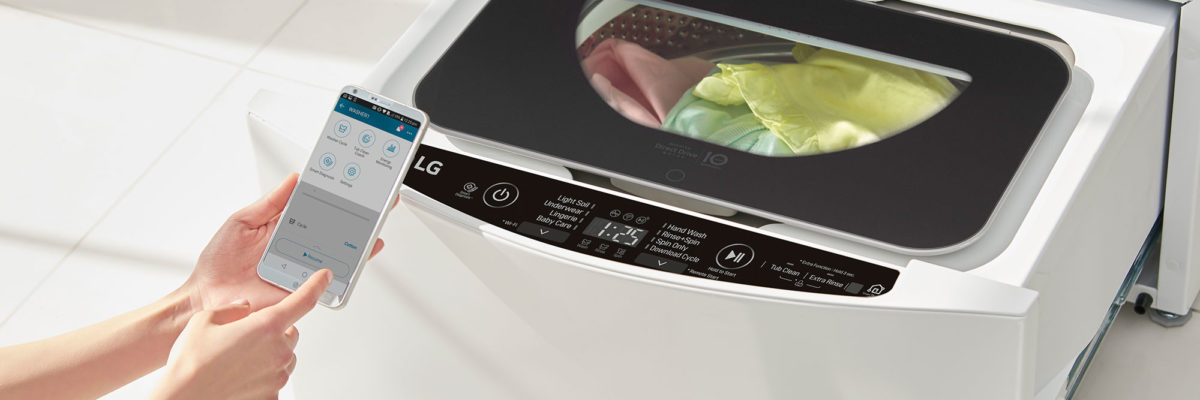smartphone smart home devices washing machine