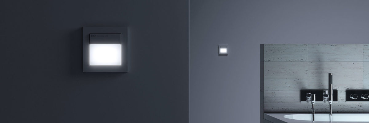 Smart home devices - Gira Motion detector in dim light
