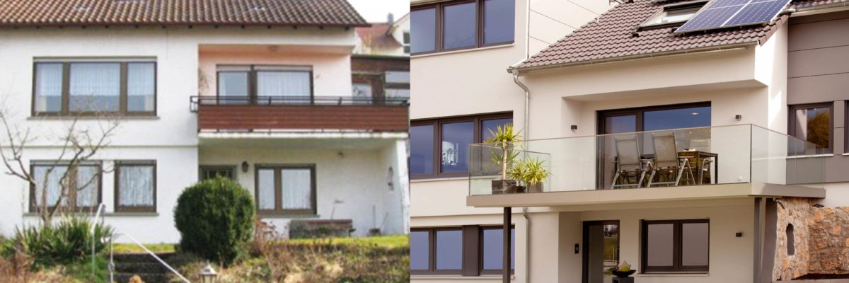 before and after modernised 60s house