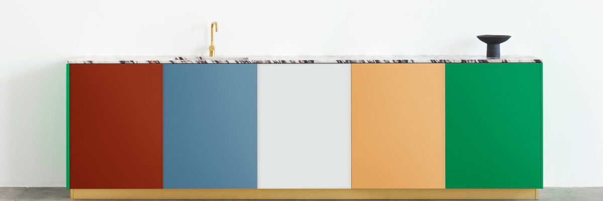 Colourful kitchen from a belgian duo