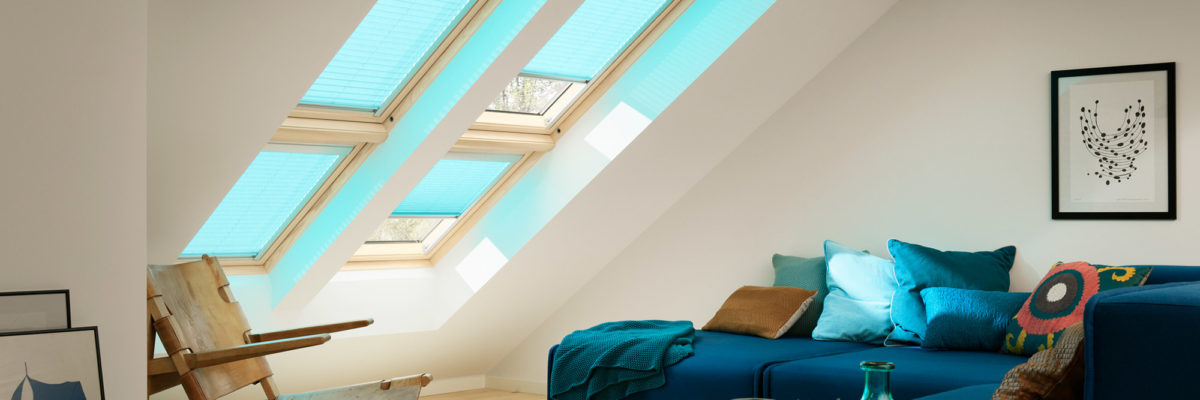 velux living room blinds window heat protection