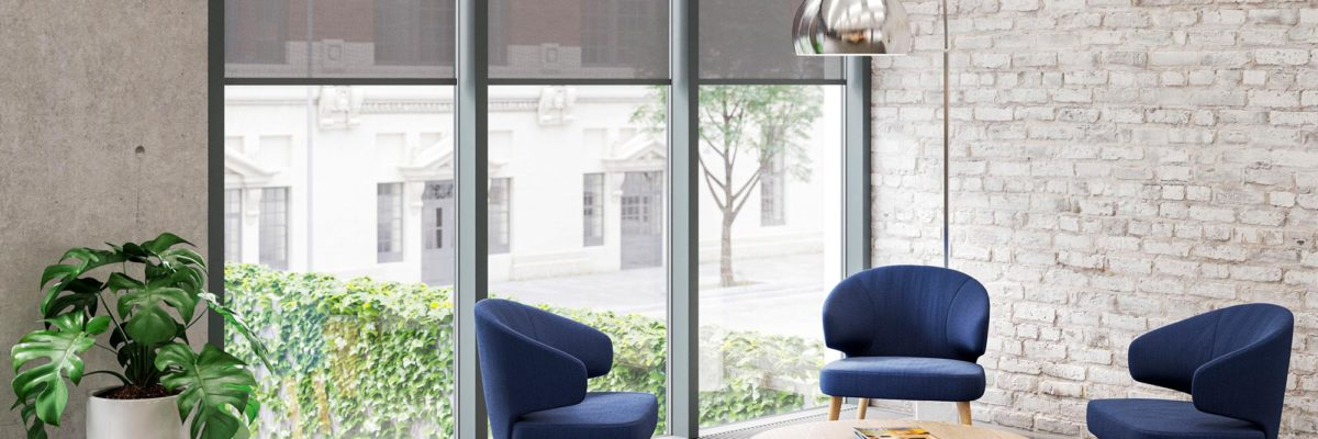 kvadrat blue chairs window heat protection