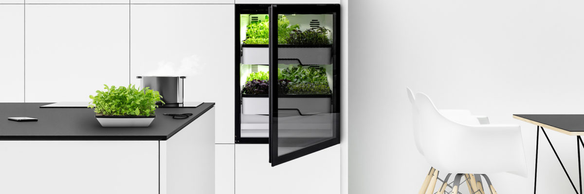 Agrilution vertical kitchen farming