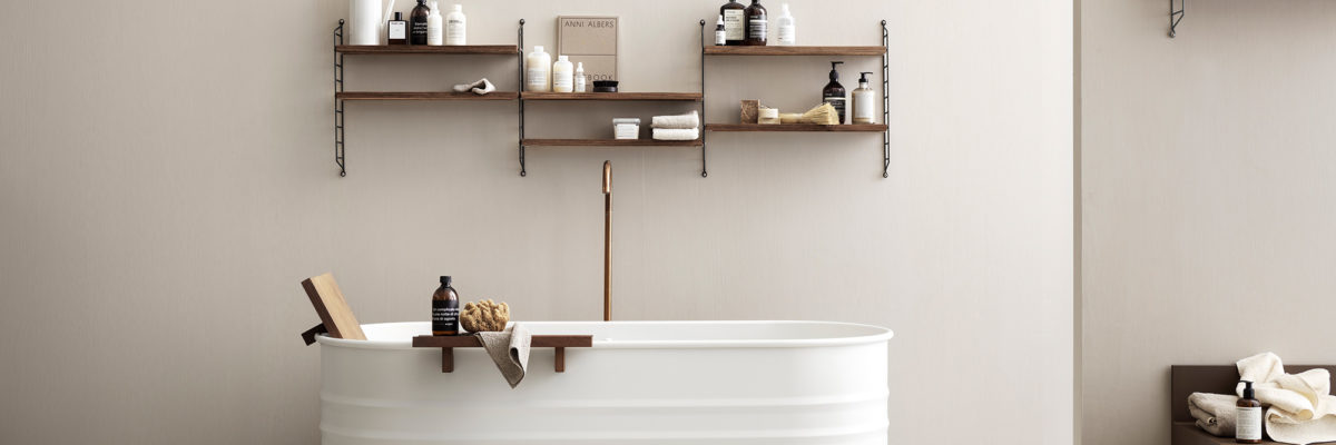 New bathroom shelves bathtub