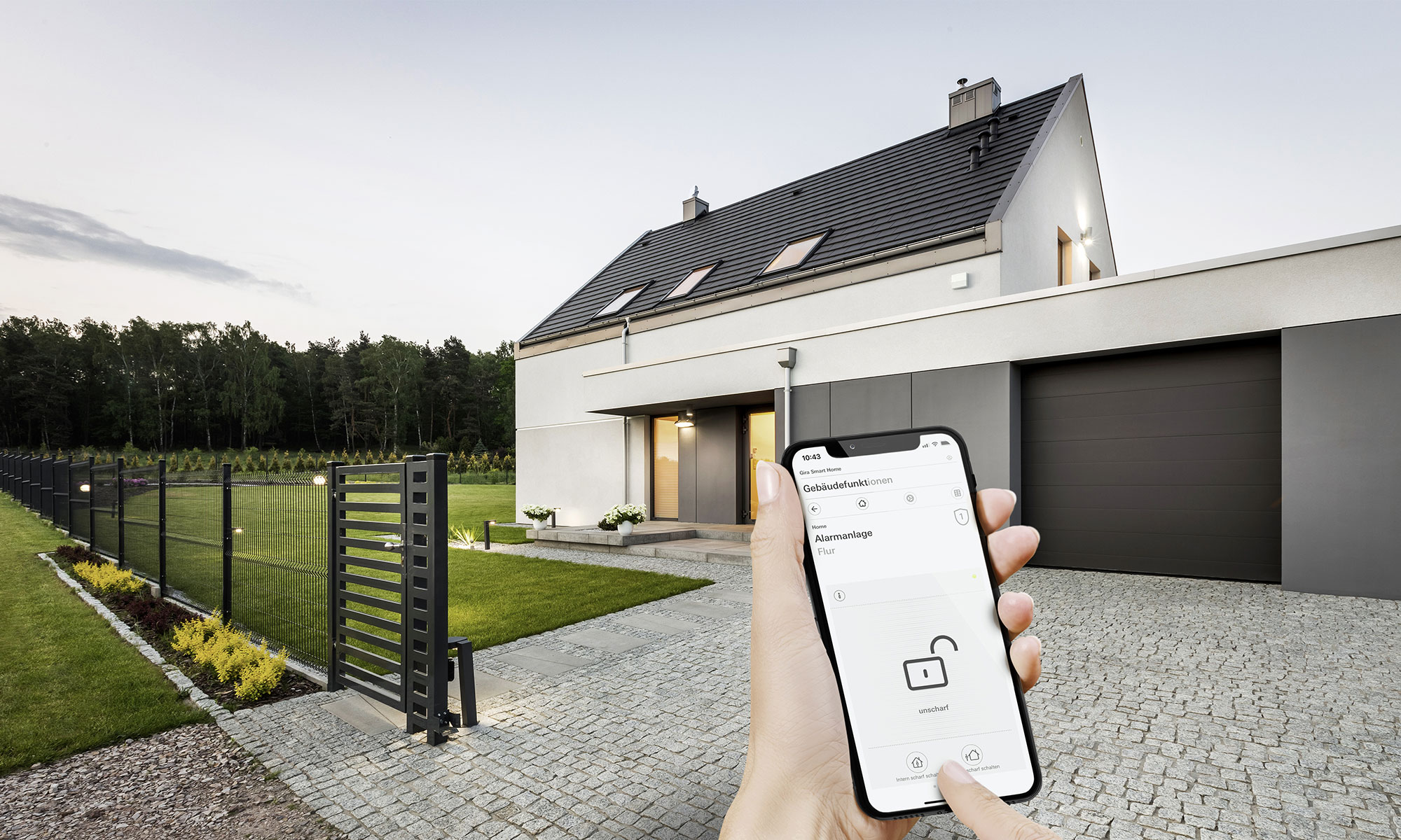 Setup smart home house exterior
