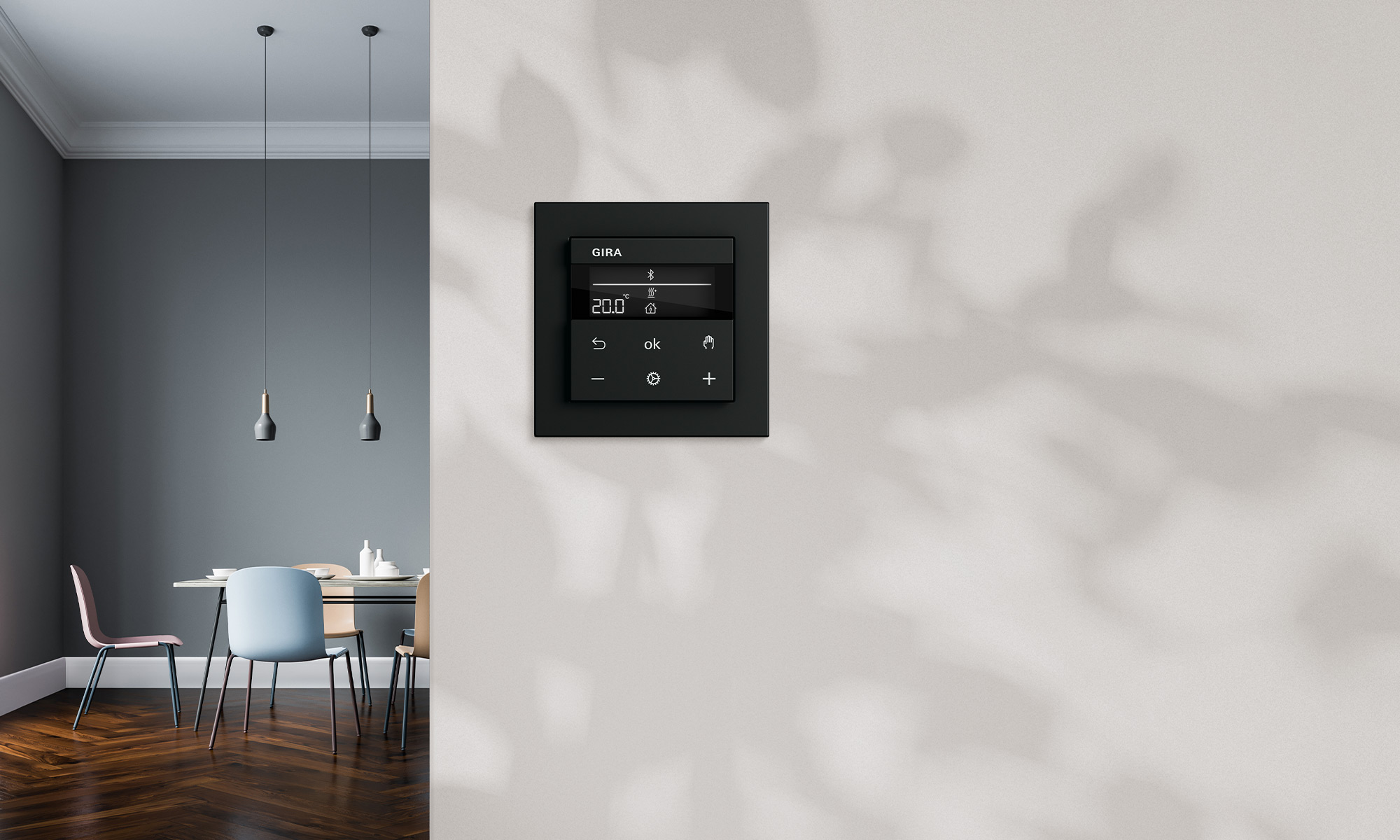 Gira 3000 heating control lets you enjoy cheap heating during winter.