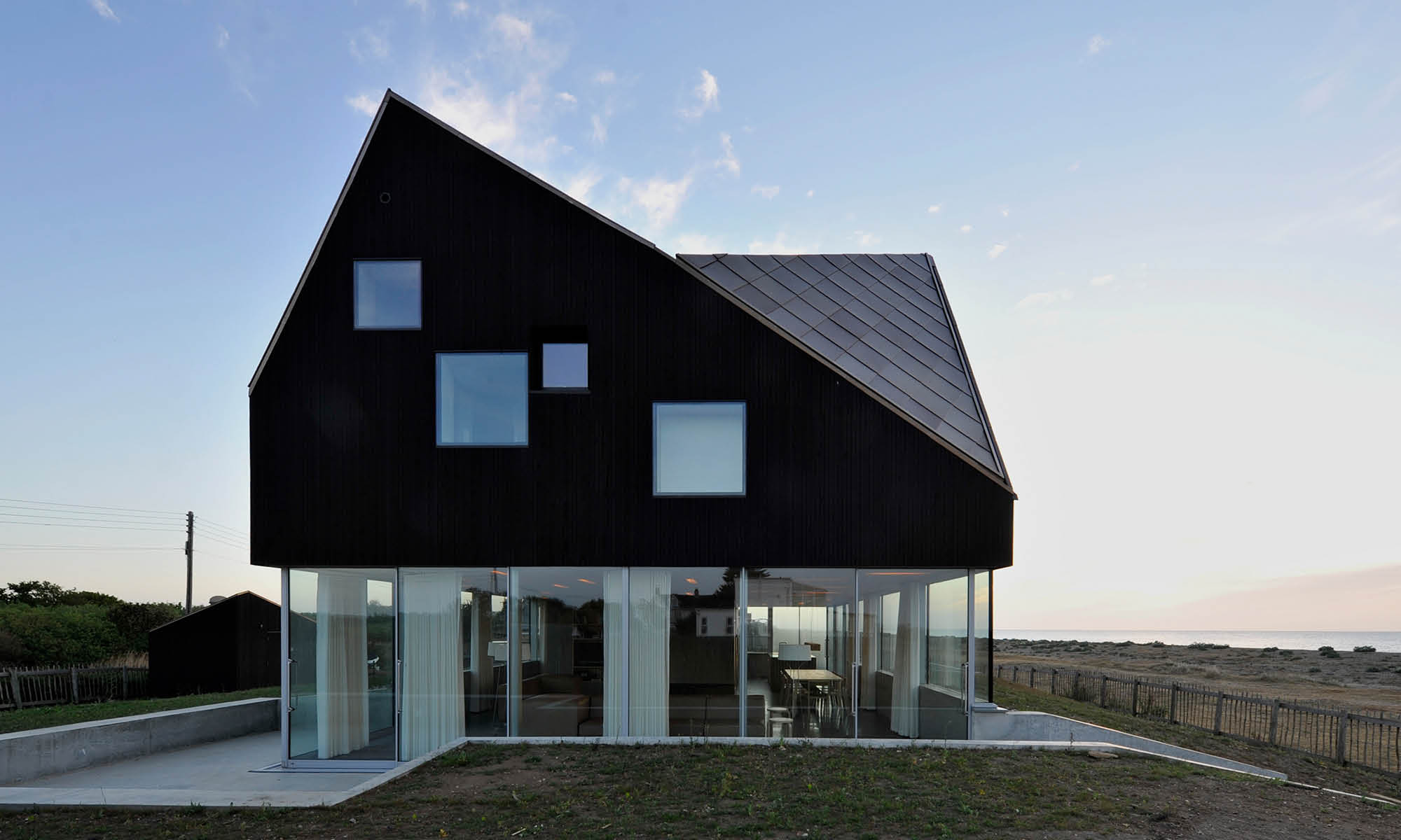 A stunning house with black façade